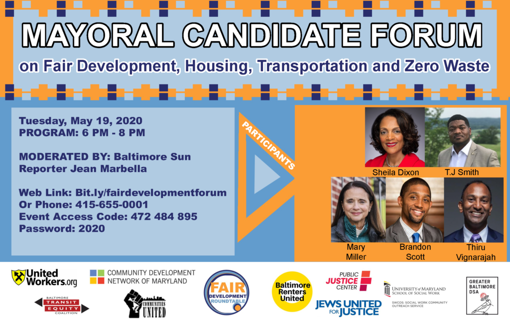 Mayoral candidate forum on fair development, housing, transportation, and zero waste