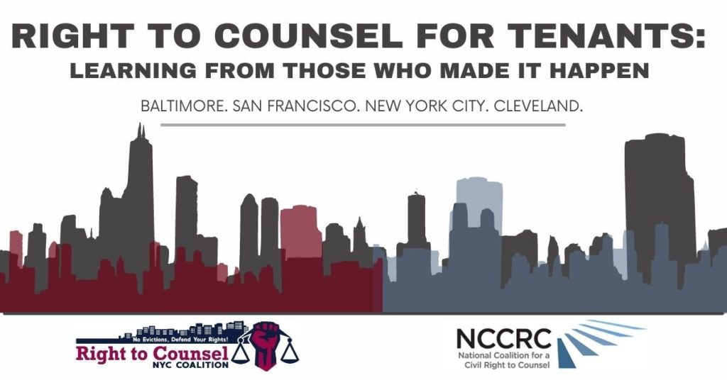 Right to Counsel for Tenants: Learning from those who made it happen
