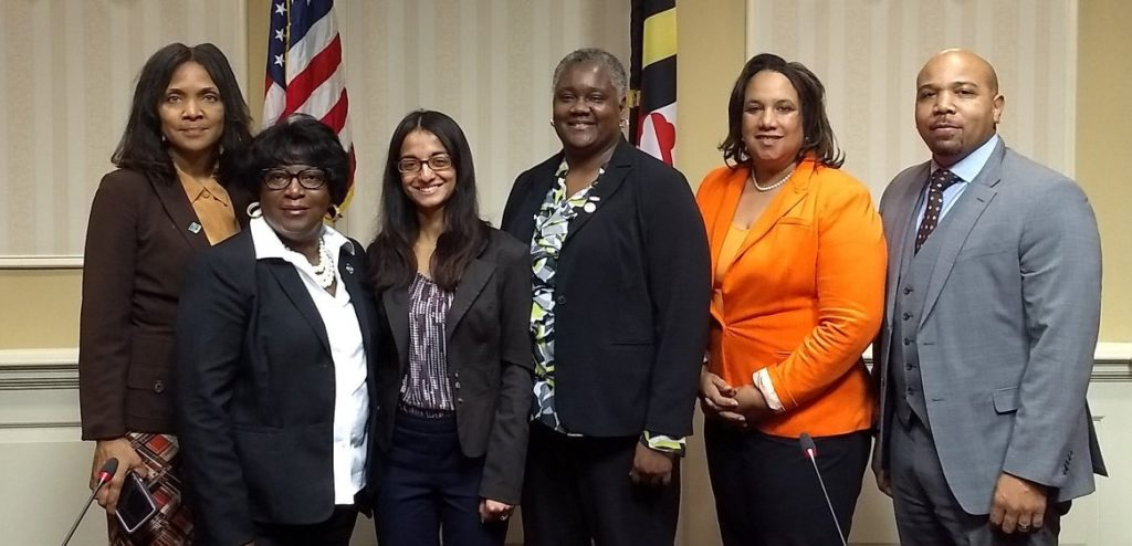 Members of the Charles County NAACP with PJC attorney Monisha Cherayil